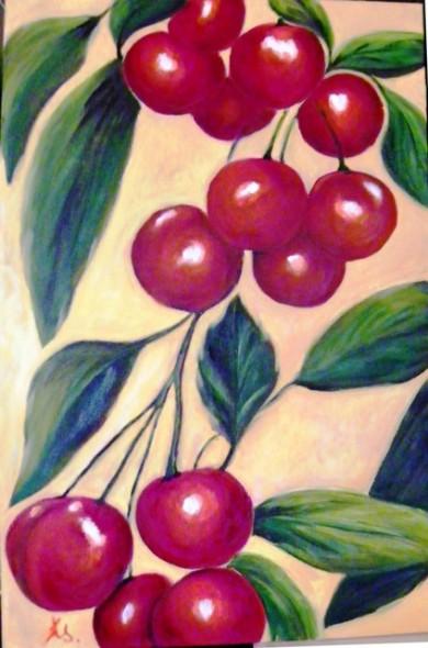 Cerezas en ramo