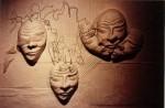 Obras de arte: America : Argentina : Buenos_Aires : ituzaingo : Composición con máscaras I