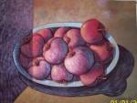 Obras de arte: America : Ecuador : Pichincha : Quito : plato con manzanas