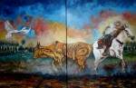 Obras de arte: America : Colombia : Distrito_Capital_de-Bogota : Bogota : Coleador