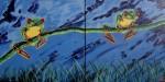 Obras de arte: America : Colombia : Distrito_Capital_de-Bogota : Bogota : Sapos