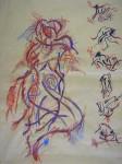 Obras de arte: America : Colombia : Distrito_Capital_de-Bogota : Bogota : Serie (Movimiento desnudo)
