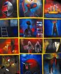 Obras de arte: America : México : Mexico_Distrito-Federal : Xochimilco : Entramado