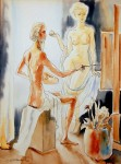 Obras de arte: Asia : Israel : Central-Israel : Hod_Hasharon : ARTIST & MODEL 1