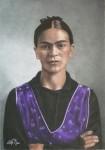 Obras de arte: Europa : España : Madrid : Madrid_ciudad : Melancolía (Frida Kahlo, 25 años)