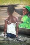 Obras de arte: America : Canadá : Quebec : Montreal : Jeunes filles du Bénin