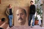 Obras de arte: Europa : España : Andalucía_Sevilla : Sevilla-ciudad : Francisco Borras junto a su retrato