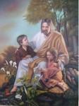 Obras de arte: America : México : Sinaloa : guamuchil : jesus y los niños
