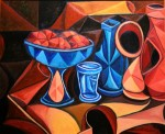 Obras de arte: Europa : España : Galicia_Pontevedra : pontevedra : JARRON AZUL