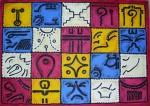 Obras de arte: America : Colombia : Santander_colombia : Bucaramanga : Los 20 glifos solares