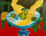 Obras de arte: Europa : Francia : Nord-Pas-de-Calais : LONGUENESSE : Table bleue