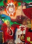 Obras de arte: America : M�xico : Mexico_Distrito-Federal : Cuauhtemoc : detalle parafraisi dialogo