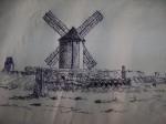 Obras de arte: Europa : España : Castilla_la_Mancha_Ciudad_Real : Ciudad_Real : Vista del Molino 'Sardinero'