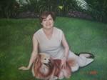 Obras de arte: America : México : Sinaloa : guamuchil : la nina linda y su can
