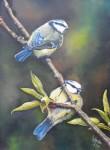 Obras de arte: America : Argentina : Buenos_Aires : hurlingham : pajaros azules