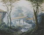 Obras de arte: America : Venezuela : Miranda : Caracas_ciudad : Casa en el rio