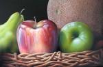 Obras de arte: America : Venezuela : Miranda : Caracas_ciudad : Frutas en Canasto