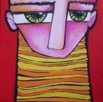 Obras de arte: America : Argentina : Buenos_Aires : Capital_Federal : Retrato con rojo