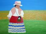 Obras de arte: America : Perú : Lima : Barranco : La niña del Colca