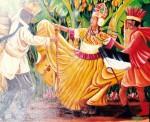 Obras de arte: America : Panamá : Colon-Panama : Barrio_Sur : Merced, pajarito y Juan de dioso