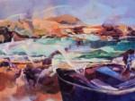 Obras de arte: Europa : España : Canarias_Las_Palmas : Puerto_del_Rosario : Abstración de la playa de Ajui