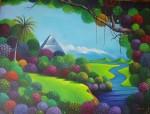 Obras de arte: America : Costa_Rica : San_Jose : Zapote-San_Francisco : paisaje mistico