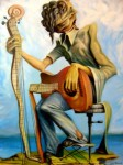 Obras de arte: Europa : Espa�a : Andaluc�a_Huelva : Ayamonte : Guitarra y guitarrista