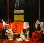 Obras de arte: America : Argentina : Buenos_Aires : Ciudad_de_Buenos_Aires : Tres mujeres y un Varon