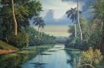 Obras de arte: America : Cuba : Ciudad_de_La_Habana : miramar_playa : Amanecer gris