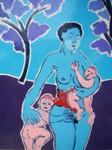 Obras de arte: Europa : Francia : Nord-Pas-de-Calais : LONGUENESSE : Maternité aux deux arbres