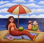 Obras de arte: America : México : Baja_California : tijuana : sirena con coco loco