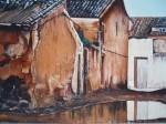 Obras de arte: Europa : España : Valencia : valencia_ciudad : callejón en ruínas
