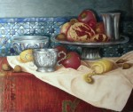 Obras de arte: Africa : Marruecos : Tanger-Tetouan : tetuan : la naturaleza muerta con alfombra