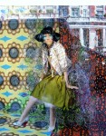 Obras de arte: Europa : Suecia : Stockholms : Estocolmo : OJOS DE GATO AZUL( SERIE FOTO-ART)