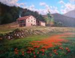 Obras de arte: Europa : España : Catalunya_Girona : olot : amapolas