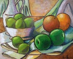 Obras de arte: America : Nicaragua : Managua : Managua_ciudad : Bodegón de frutas