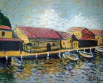 Obras de arte: America : Nicaragua : Managua : Managua_ciudad : Casas de pescadores