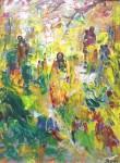 Obras de arte: Europa : España : Navarra : Pamplona_ciudad : Cromática Africana en amarillos