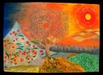 Obras de arte: Europa : Espa�a : Andaluc�a_Granada : Orgiva : El arboleda sol