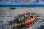 Obras de arte: Europa : España : Madrid : Madrid_ciudad : Barcas en la orilla