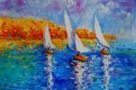 Obras de arte: Europa : España : Madrid : Madrid_ciudad : Atardecer con veleros
