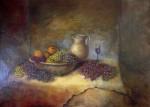 Obras de arte: Europa : España : Navarra : tudela : bodegon uvas