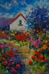 Obras de arte: Europa : España : Madrid : Madrid_ciudad : Flores en un jardín