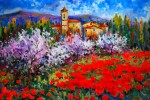 Obras de arte: Europa : España : Madrid : Madrid_ciudad :  Almendros en Valencia