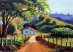Obras de arte: America : Brasil : Rio_de_Janeiro : Niterói : Un camino en un paisaje bucólico.