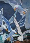 Obras de arte: America : Chile : Bio-Bio : Concepción : aleteo de gaviotas
