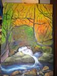 Obras de arte: America : Chile : Bio-Bio : Concepción : Vertiente en bosque chileno