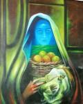 Obras de arte: America : Honduras : Santa_Barbara : santa_barbara_ciudad : Rostro Azul