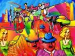 Obras de arte: America : Chile : Los_Lagos : puerto_montt : Ciudad con despersonalización múltiple en pleno centro. DANILO SEPULVEDA