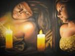 Obras de arte: America : El_Salvador : Santa_Ana : santa_ana_ciudad : Intimidad en la luz de una vela